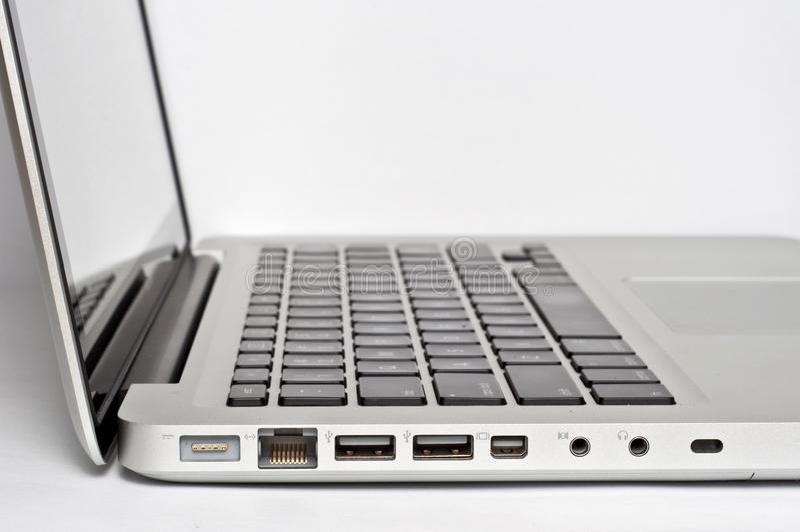 Laptop-Leistung-Kanäle stockfotos