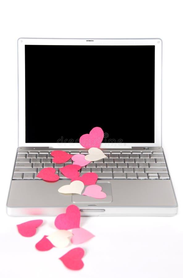 Laptop Liefde 5 royalty-vrije stock afbeelding