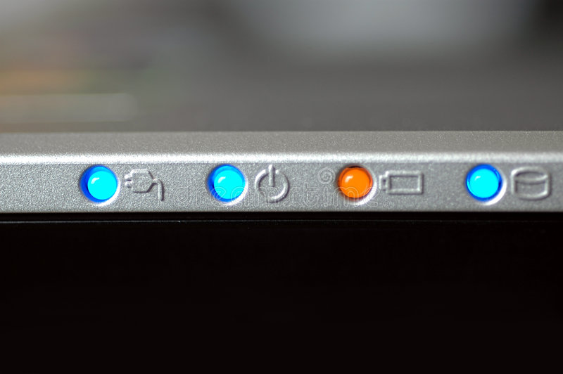 Download Laptop lights στοκ εικόνα. εικόνα από τα, διαδίκτυο, βακκινίων - 115295