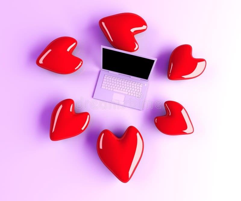 Download Laptop in Love stock illustration. Image of keyboard - 20024868