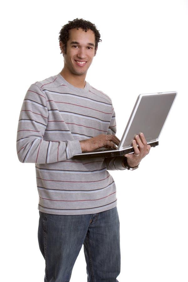 Laptop-Mann lizenzfreies stockbild