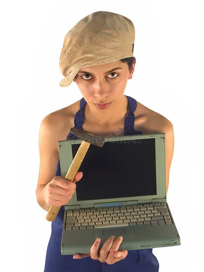 Laptop mededeling stock fotografie