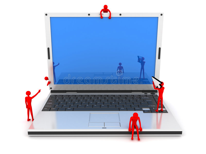 Download Laptop and men stock photo. Image of advertisement, abstract - 8837032