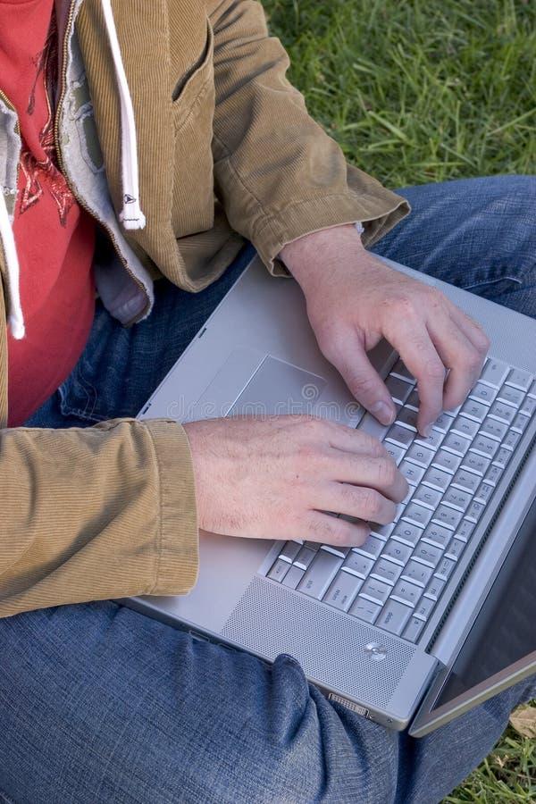 Download Laptop Mens stock foto. Afbeelding bestaande uit student - 277452