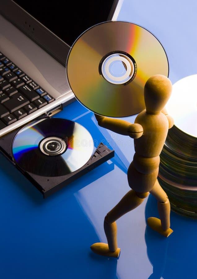 Laptop met cijfer stock fotografie