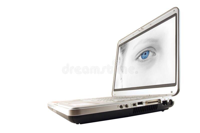 Laptop met het knippen van weg stock afbeeldingen