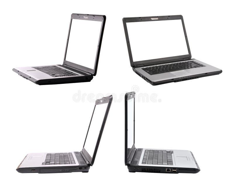 Laptop met weg stock afbeelding