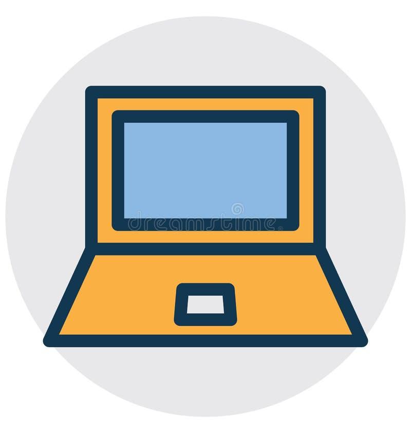 Laptop, micro- computer isoleerde Vectorpictogram dat zich gemakkelijk kan wijzigen of uitgeven vector illustratie