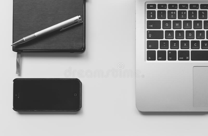 Laptop With Mobile And Notebook Free Public Domain Cc0 Image