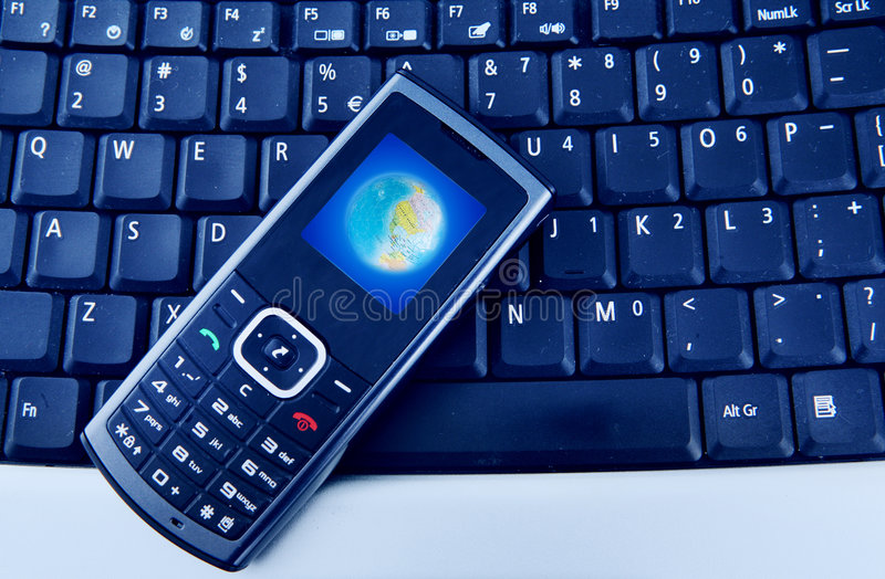 Download Laptop with Mobile Phone stock photo. Image of business - 6071808
