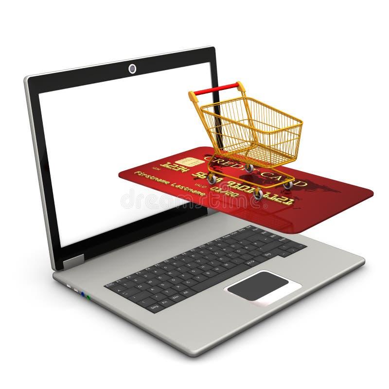 Download Laptop Mobile Shopping stock illustration. Illustration of global - 28660892
