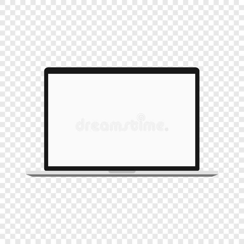 Laptop Moderner Computer auf transparentem Hintergrund lizenzfreie abbildung