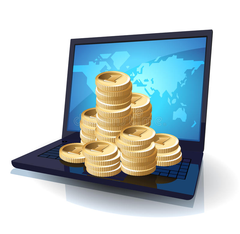 Download Laptop And Money Royalty Free Stock Photo - Image: 14363625