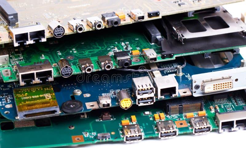 Laptop motherboards stoppen stock foto's