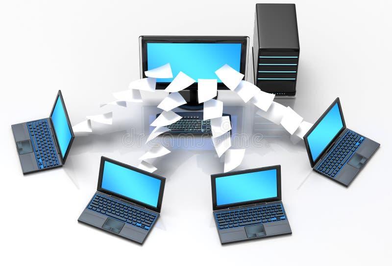 Laptop Netwerk royalty-vrije illustratie