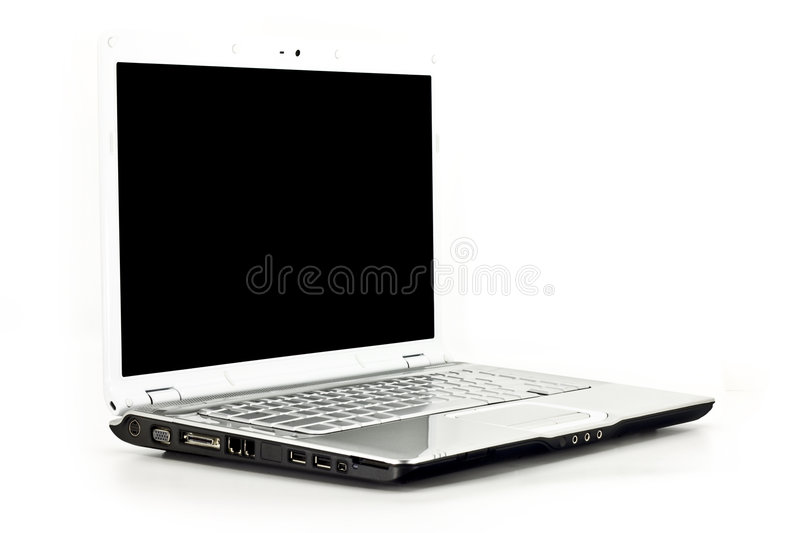 Laptop/Notebook Computer Isolated on White royalty free stock image