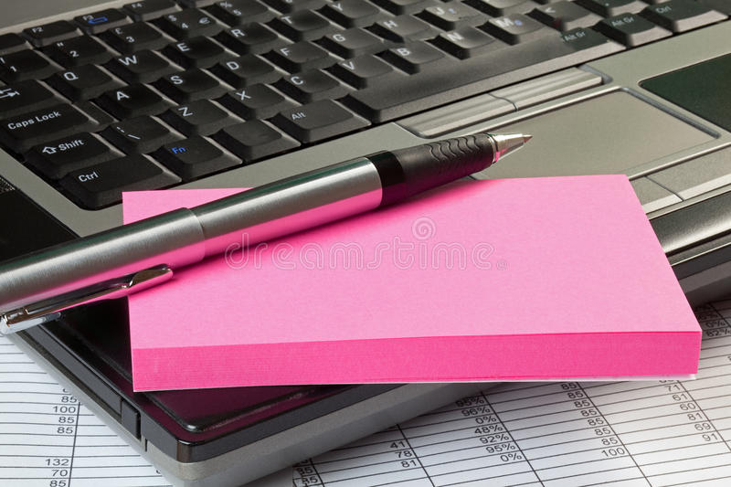 Download Laptop And Notepad With Copy Space Stock Image - Image: 25902275