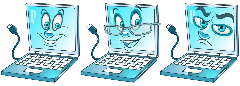 Laptop notitieboekjecomputer Modern technologieënconcept stock illustratie