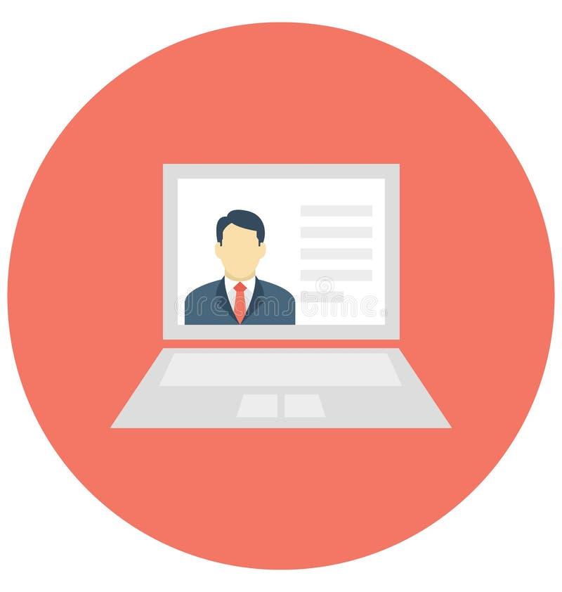 Laptop Odizolowywał Wektorową ikonę która może łatwo redagować lub modyfikująca ilustracja wektor