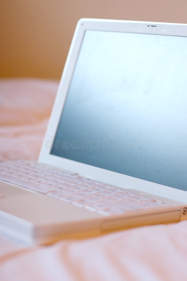 laptop otwarte obrazy stock