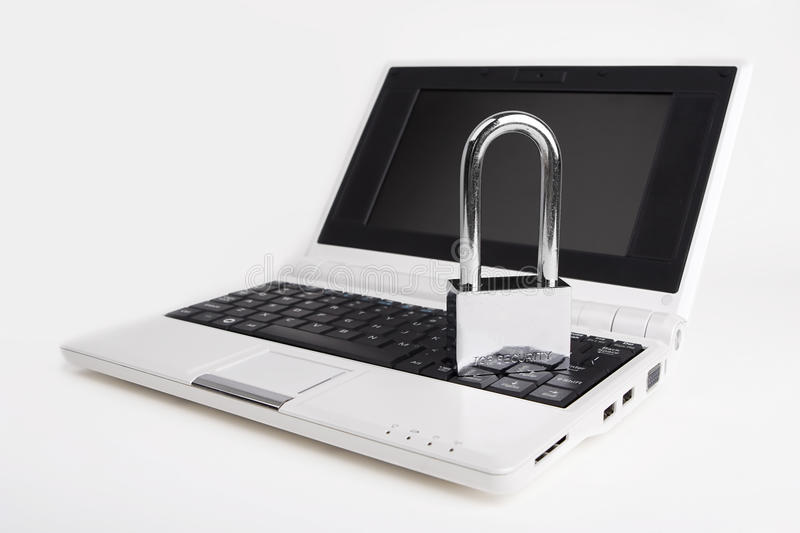 Download Laptop With The Padlock Stock Image - Image: 11467401