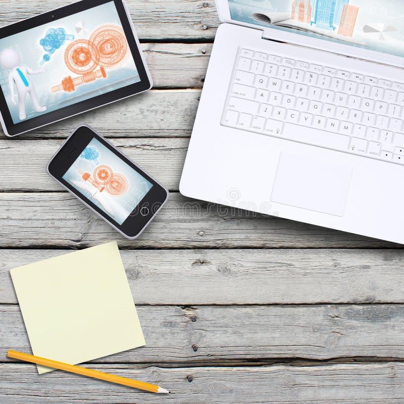 Laptop, pastylka komputer osobisty i smartphone, zdjęcie royalty free