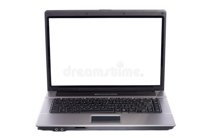Laptop PC auf weißem Hintergrund lizenzfreie stockbilder