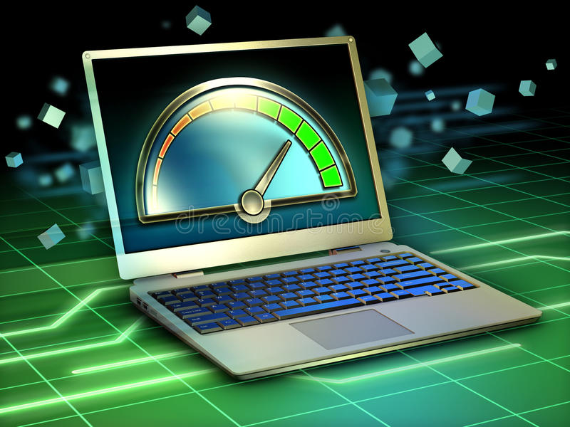 Download Laptop performance stock illustration. Image of notebook - 35117469