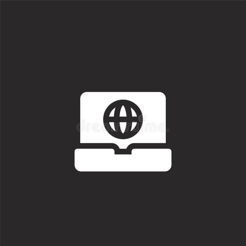 Laptop Pictogram Gevuld laptop pictogram voor websiteontwerp en mobiel, app ontwikkeling laptop pictogram van gevulde geïsoleerde stock illustratie