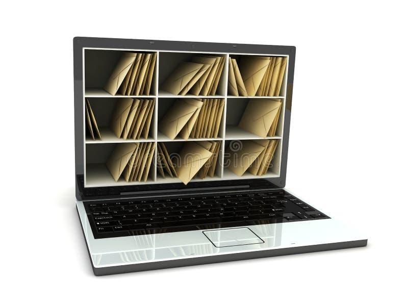 Laptop Post Stock Image
