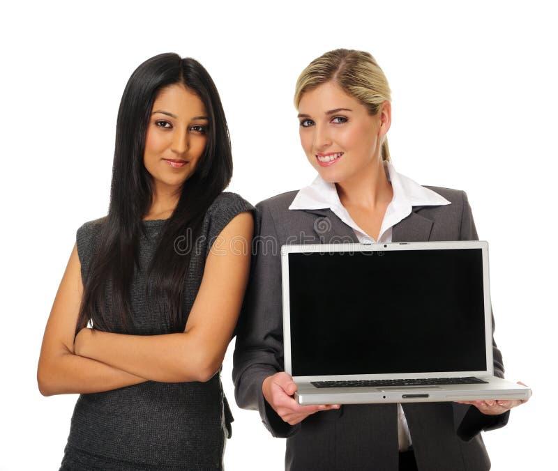 Laptop presentatie royalty-vrije stock afbeeldingen