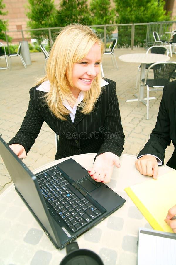 Laptop Presentatie stock foto's