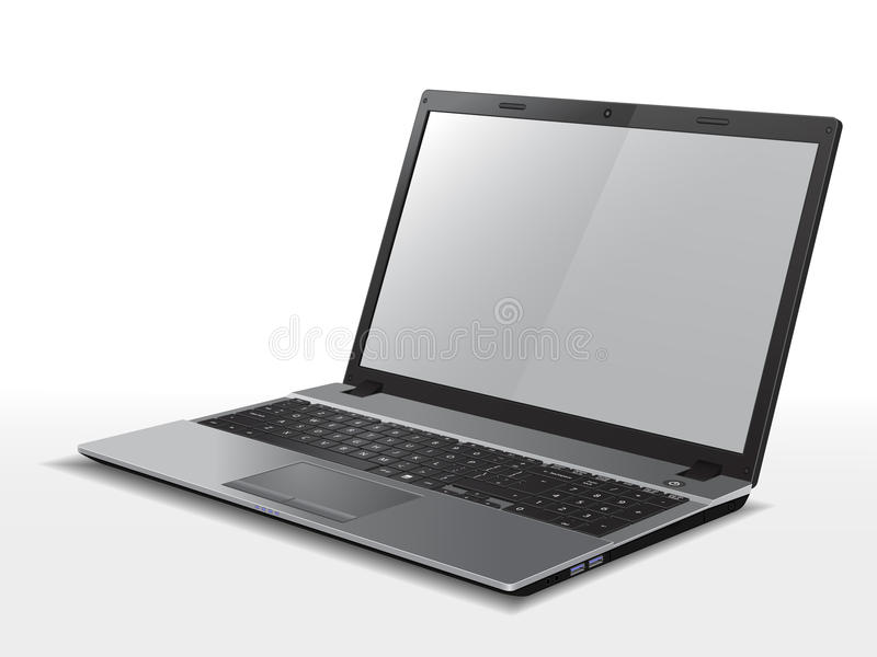 Download Laptop stock vector. Illustration of flat, tech, computer - 39304360