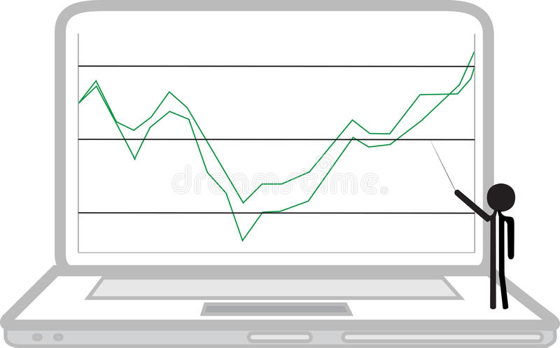 Download Laptop With Rising Economy Royalty Free Stock Photo - Image: 33558225