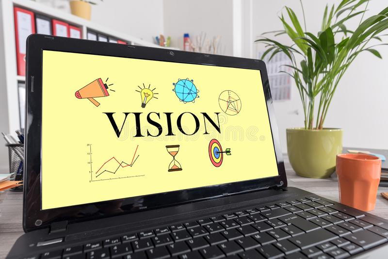 Vision concept on a laptop stock photo