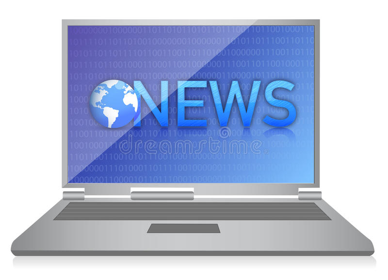 Download Laptop Showing NEWS On Screen Royalty Free Stock Photography - Image: 28956407