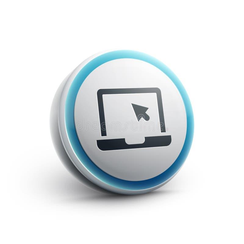 Laptop sieci ikona ilustracji