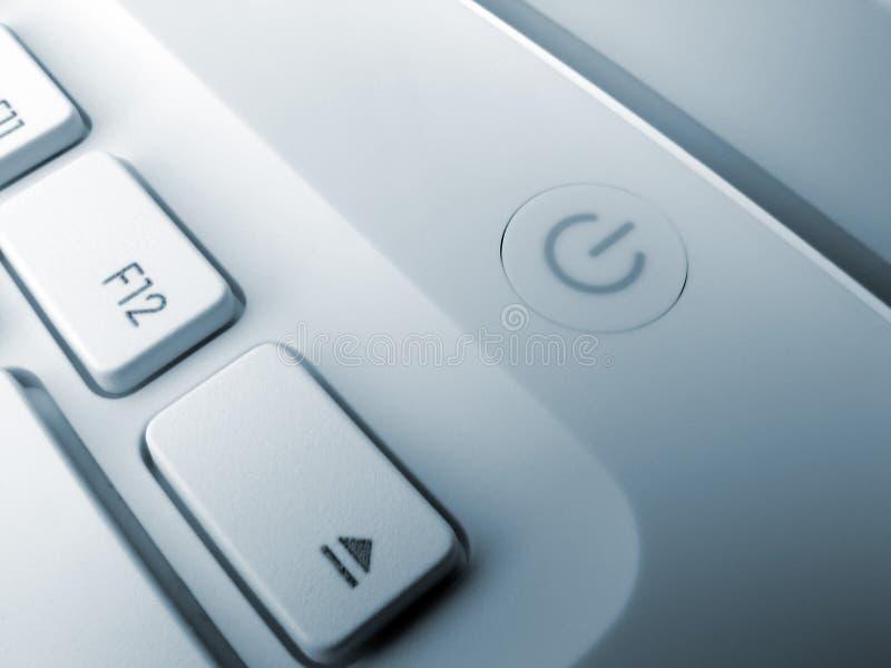 Laptop sleutels royalty-vrije stock foto's