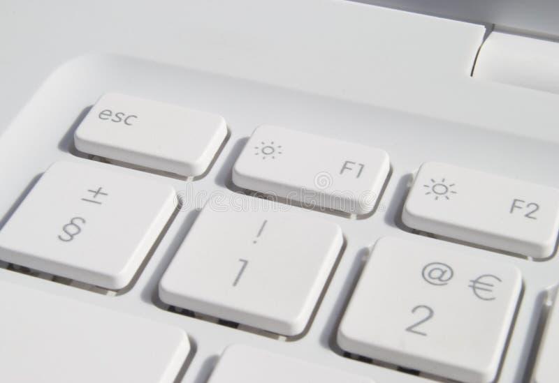 Laptop sleutels stock afbeelding