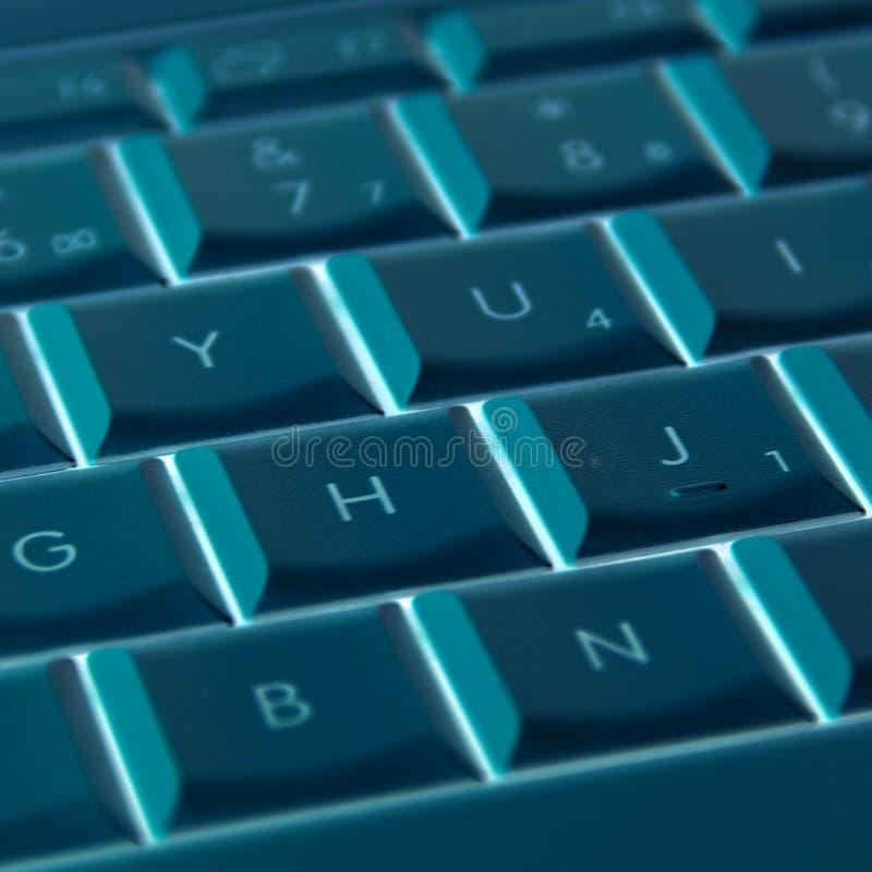 Laptop sleutelssamenvatting royalty-vrije stock foto's