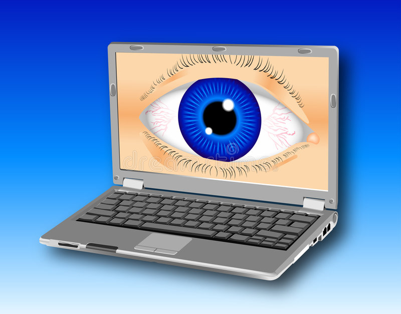 Laptop_spyware Photo stock