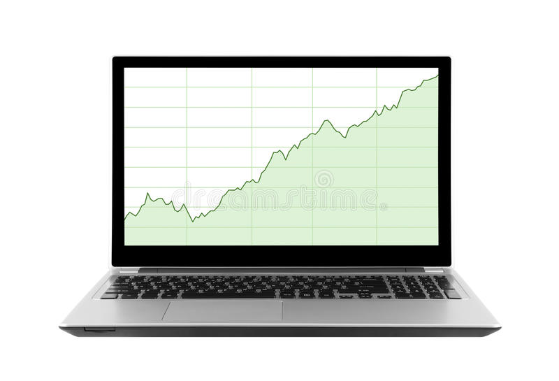 Download Laptop with stock charts stock photo. Image of analyse - 39083424