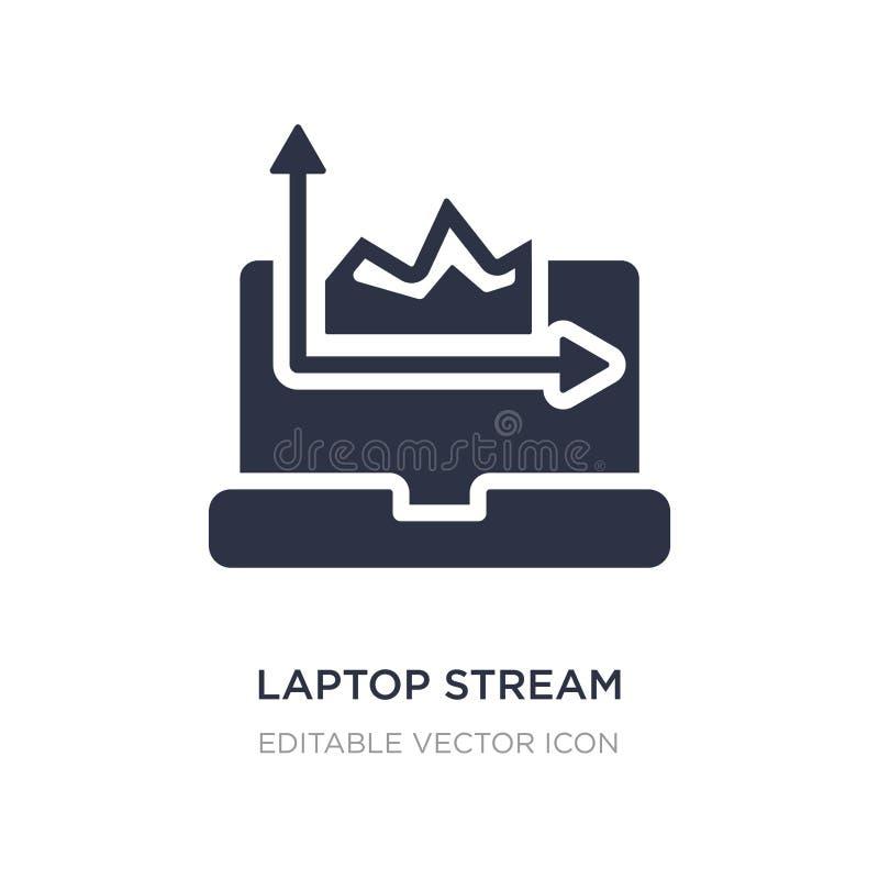 laptop stroom grafisch pictogram op witte achtergrond Eenvoudige elementenillustratie van Computerconcept stock illustratie