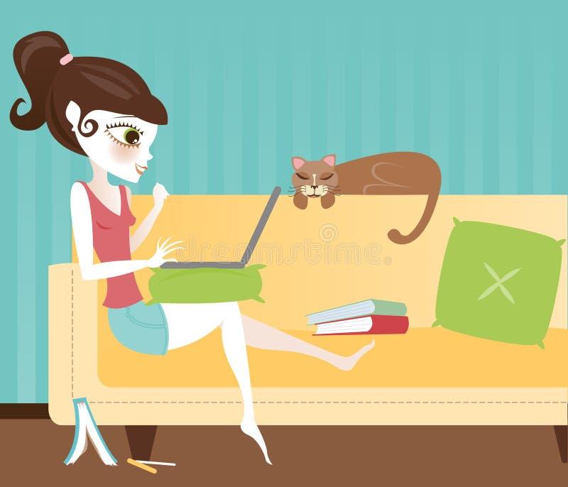 Download Laptop Studies stock illustration. Illustration of kitty - 1947596