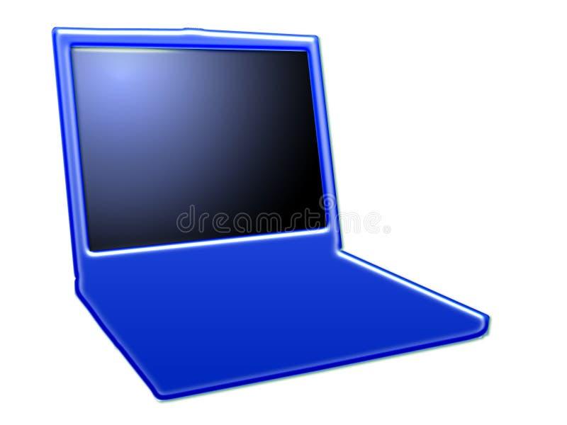 laptop stylizujący ii royalty ilustracja