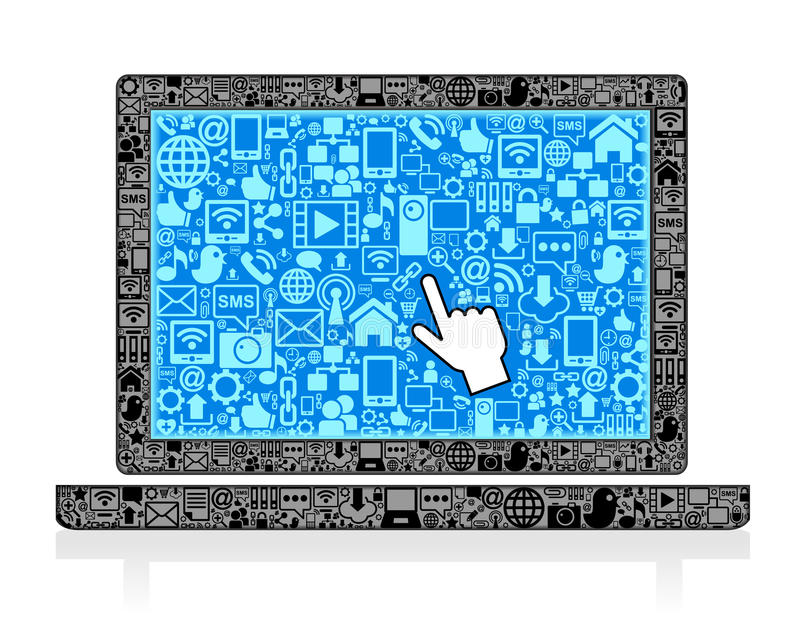 Laptop  Symbol Stock Images