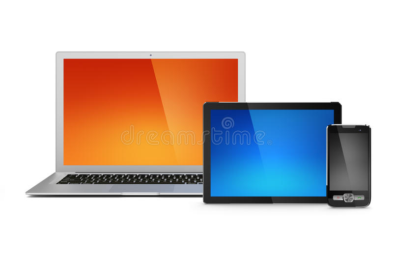 Download Laptop, Tablet And Mobile Phone Stock Illustration - Illustration of copy, background: 24108536
