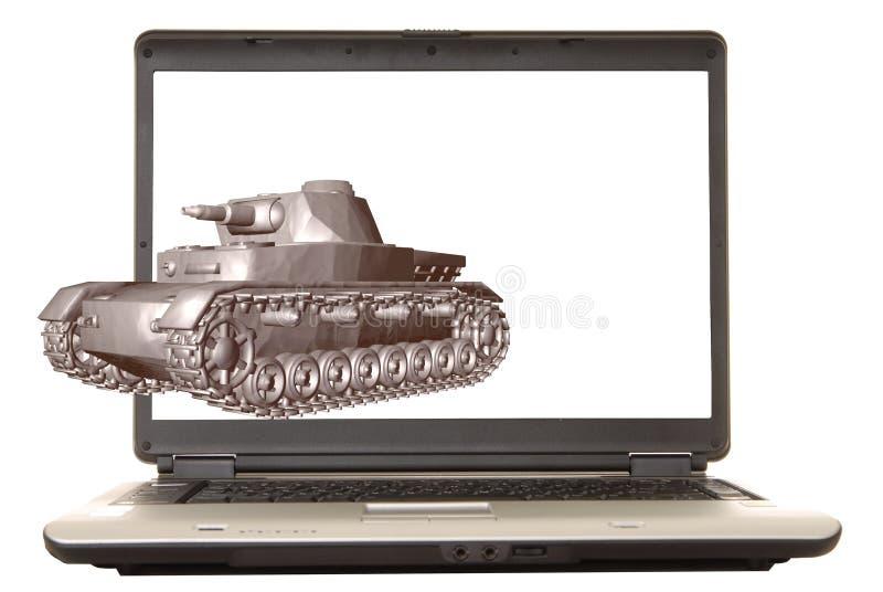 Laptop Tank royalty-vrije illustratie