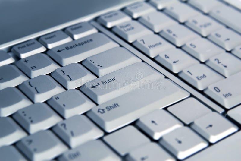 Laptop toetsenbord royalty-vrije stock foto's