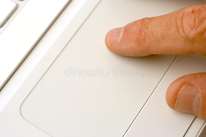 Laptop touchpad royalty free stock images